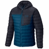 Mountain Hardwear Mens Dynotherm Down Hooded Jacket Phoenix Blue/ Black