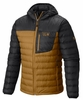 Mountain Hardwear Mens Dynotherm Down Hooded Jacket Underbrush/ Shark