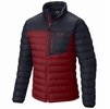 Mountain Hardwear Mens Dynotherm Down Jacket Smolder Red/ Hardwear Navy (Close Out)