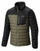 Mountain Hardwear Mens Dynotherm Down Jacket Stone Green/ Black (Close Out)