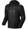 Mountain Hardwear Mens Ghost Whisperer Hooded Down Jacket Black (Close Out)