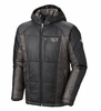 Mountain Hardwear Mens Hooded Compressor Jacket Black/ Shark (Close Out)