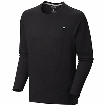 Mountain Hardwear Mens Logo Long Sleeve T Black (Close Out)