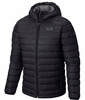 Mountain Hardwear Mens Micro Ratio Hooded Down Jacket Black