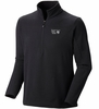 Mountain Hardwear Mens Microchill Zip T Black (Close Out)