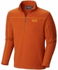 Mountain Hardwear Mens Microchill Zip T Dark Adobe