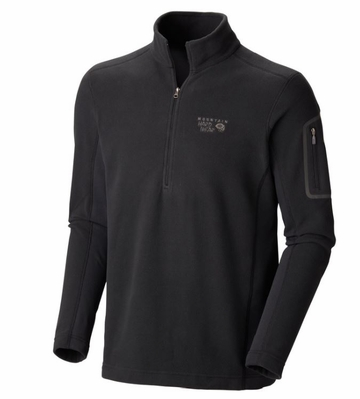 Mountain Hardwear Mens Microstretch Zip-T Black/ Black (Close Out)