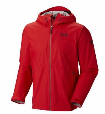 Mountain Hardwear Mens Plasmic Jacket Mountain Red (Close Out)