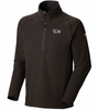 Mountain Hardwear Mens Toasty Tweed 1/4 Zip Jacket Black Large