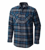 Mountain Hardwear Mens Trekkin Flannel Long Sleeve Shirt Phoenix Blue