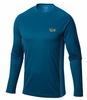Mountain Hardwear Mens Wicked Lite Long Sleeve T Phoenix Blue/ Dark Compass