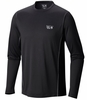 Mountain Hardwear Mens Wicked Lite Long Sleeve T Shark/ Black