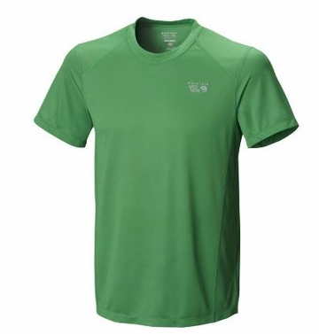 Mountain Hardwear Mens Wicked Lite Short Sleeve T Fuse Green