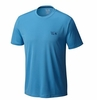 Mountain Hardwear Mens Wicked Short Sleeve Ocean Blue