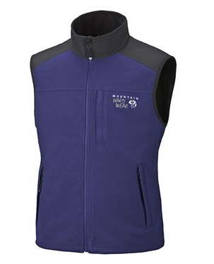 Mountain Hardwear Mens Windstopper Tech Vest Grill (Close Out)