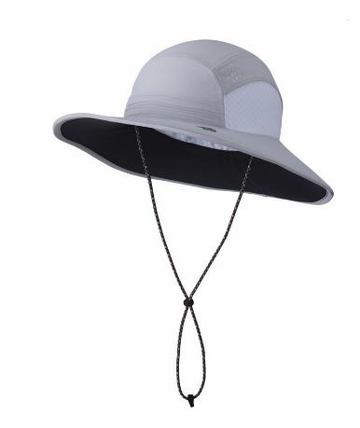 Mountain Hardwear Womens Chiller Wide Brim Hat Grey Ice