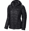 Mountain Hardwear Womens Ghost Whisperer Down Hooded Jacket Black