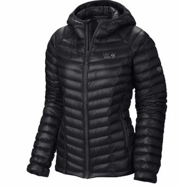 Mountain Hardwear Womens Ghost Whisperer Down Hooded Jacket Black XL (close out)