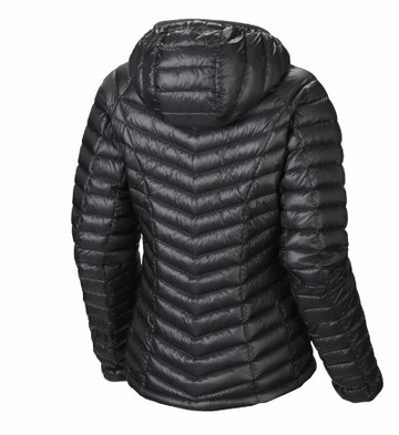 Mountain Hardwear Womens Ghost Whisperer Down Hooded Jacket Graphite/ Bright Rose