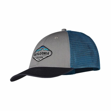 Patagonia Fitz Roy Crest LoPro Trucker Hat Feather Grey