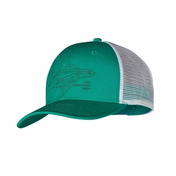 Patagonia Geodesic Flying Fish Trucker Hat Emerald