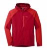 Outdoor Research Mens Ferrosi Hooded Jacket Agat/ Hot Sauce