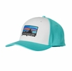 Patagonia '73 Logo Roger That Hat White w/ Howling Turquoise