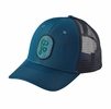 Patagonia Climb Clean Rack Trucker Hat Big Sur Blue