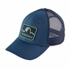 Patagonia Firstlighters Badge LoPro Trucker Hat Glass Blue