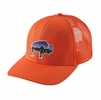 Patagonia Fitz Roy Bison Trucker Hat Campfire Orange