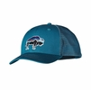 Patagonia Fitz Roy Bison Trucker Hat Underwater Blue