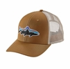 Patagonia Fitz Roy Trout Trucker Hat Bear Brown