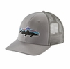 Patagonia Fitz Roy Trout Trucker Hat Drifter Grey