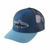 Patagonia Fitz Roy Trout Trucker Hat Glass Blue