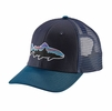 Patagonia Fitz Roy Trout Trucker Hat Navy Blue