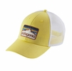 Patagonia Line Logo Badge LoPro Trucker Hat Yoke Yellow