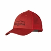 Patagonia LoPro Trucker Hat Eroded Logo: Cochineal Red