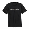 Patagonia Mens '73 Text Logo Cotton T-Shirt Black