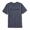 Patagonia Mens '73 Text Logo Recycled Cotton/Poly Responsibili-Tee Prussian Blue