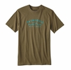 Patagonia Mens Arched Type '73 Cotton/ Poly Responsibili-Tee Gorge Green