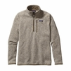 Patagonia Mens Better Sweater 1/4 Zip Fleece Bleached Stone