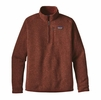 Patagonia Mens Better Sweater 1/4 Zip Fleece Cinder Red
