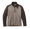 Patagonia Mens Better Sweater 1/4 Zip Fleece Pale Khaki w/ Dark Walnut