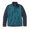 Patagonia Mens Better Sweater 1/4 Zip Fleece Underwater Blue