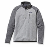 Patagonia Mens Better Sweater Fleece 1/4 Zip Nickel