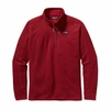 Patagonia Mens Better Sweater Quarter Zip Fleece Classic Red