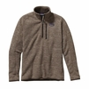 Patagonia Mens Better Sweater Quarter Zip Fleece Pale Khaki