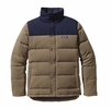 Patagonia Mens Bivy Down Jacket Ash Tan