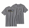 Patagonia Mens Bugger Fly T-Shirt Gravel Heather (Spring 2014)