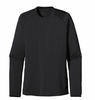 Patagonia Mens Capilene 1 Silkweight Crew Black Small